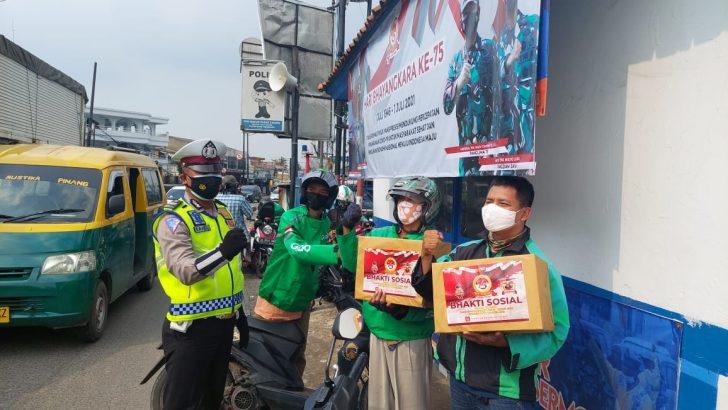 Polresta Tangerang Gelar Baksos dan Bagikan Ribuan Masker Jelang Hari Bhayangkara ke-75