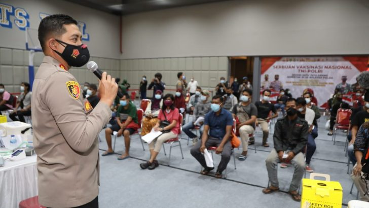 Gerai Vaksin Presisi Polresta Tangerang Laksanakan Vaksinasi 1090 Orang