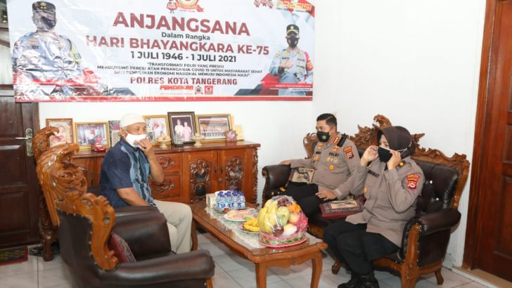 Sambut Hari Bhayangkara ke-75, Polresta Tangerang Anjangsana ke Purnawirawan Polri
