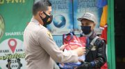 Polresta Tangerang Salurkan Bantuan Beras Komunitas Ojol Sobat Ambyar