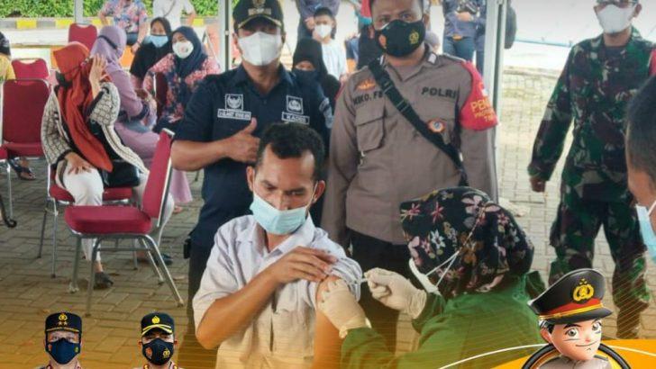 Polresta Tangerang Kawal dan Amankan Kegiatan Vaksinasi di Poltekpel Sukadiri