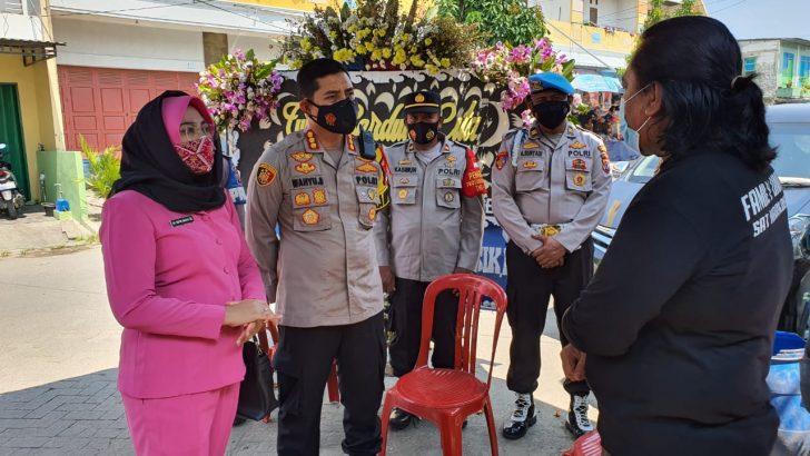 Kapolresta Tangerang Takziah di Rumah Anggota yang Istrinya Wafat