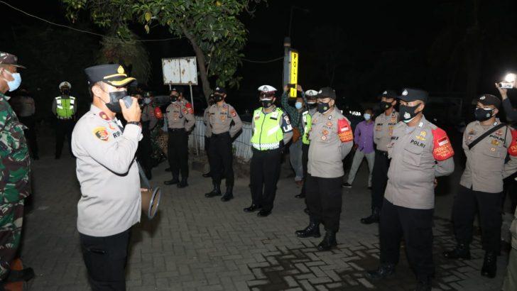 Penerapan PPKM Level 4,Polresta Tangerang Bersama Satgas Covid – 19 Kecamatan Pasarkemis Menggelar Operasi Patroli Sekala Besar
