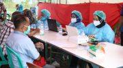 Polresta Tangerang Kawal Pelaksanaan Vaksinasi Mandiri Forum RW Ciakar Panongan