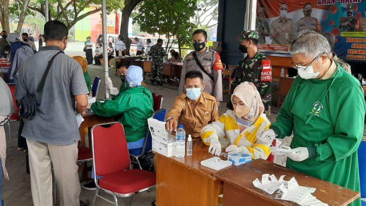 Sinergritas TNI-Polri, Polsek Mauk Hadiri Kegiatan Serbuan Vaksinasi Kodam Jaya