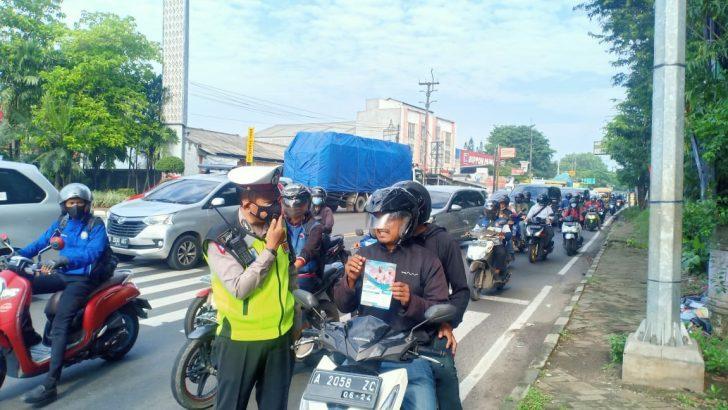 Satlantas Polresta Tangerang pantau lokasi rawan kecelakaan dan arena balap liar Dalam rangka Operasi Patuh Maung 2021