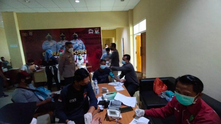 Polresta Tangerang Kawal Vaksinasi Presisi Buruh FSPMI