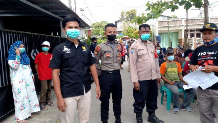 Polsek Rajeg Polresta Tangerang Amankan Jalannya Pelaksanaan Vaksinasi Merdeka Dosis 1 di Perum Rajeg Mas Pratama
