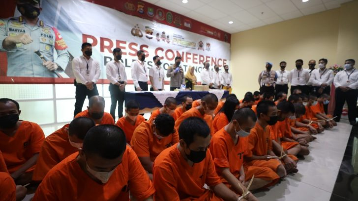 Dalam 2 Bulan, Satresnarkoba Polresta Tangerang Bekuk 34 Tersangka, 3.343 Jiwa Terselamatkan